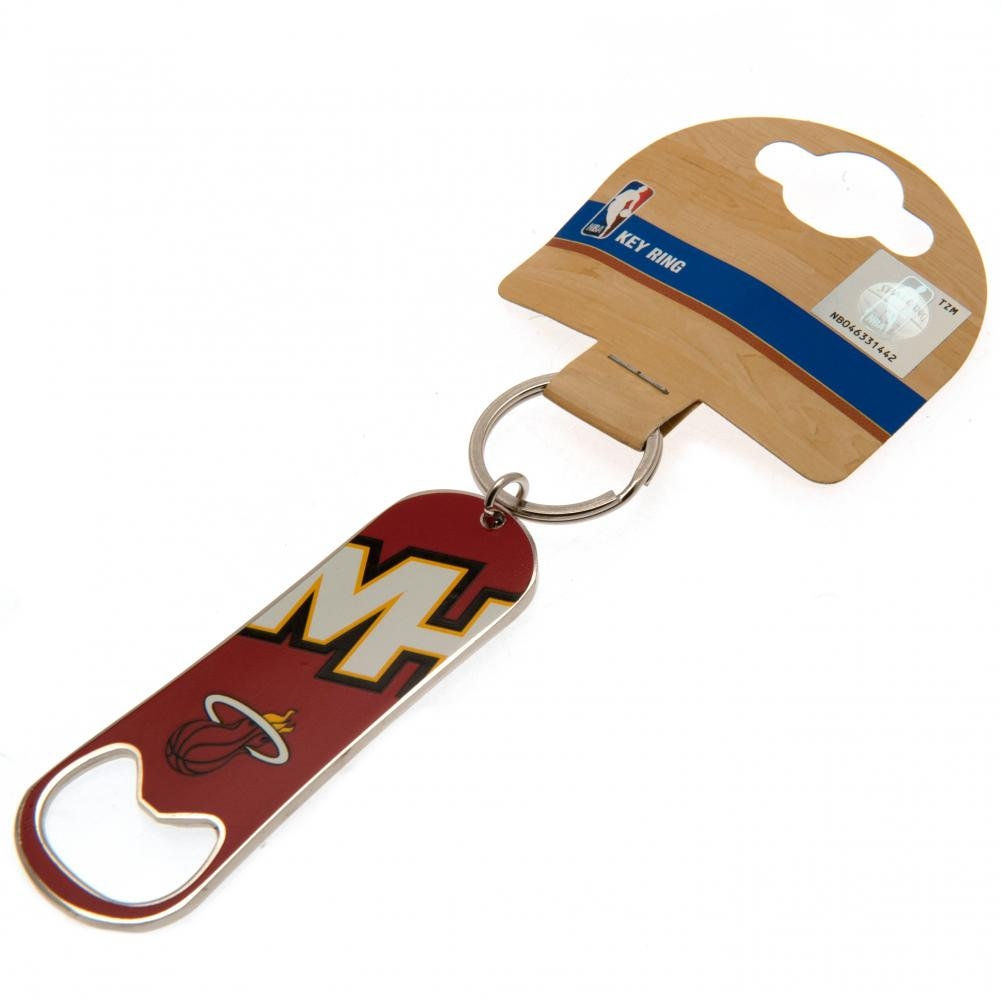 Miami Heat Bottle Opener Keychain
