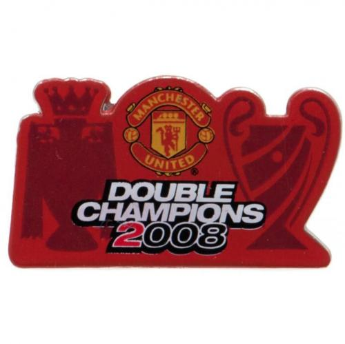 Manchester United FC Badge - Double Champions