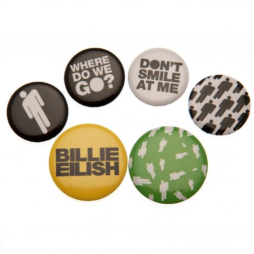 Billie Eilish Button Badge Set - Stickman