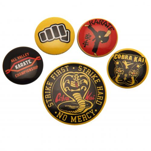 Cobra Kai Button Badge Set