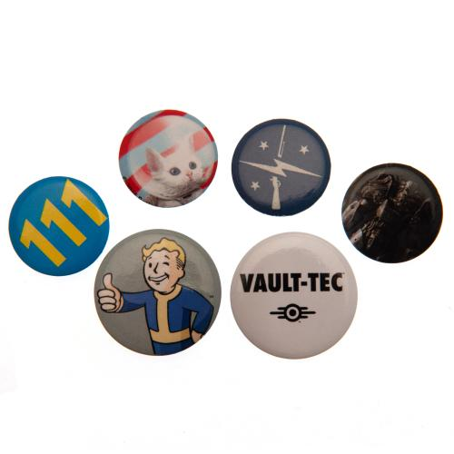 Fallout Button Badge Set - Vault Boy