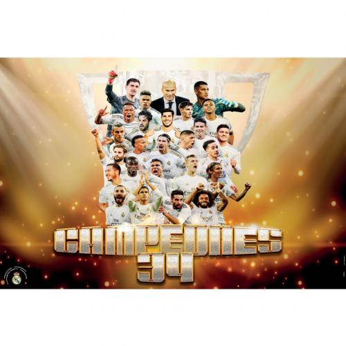 Real Madrid FC Poster Campeones - 34