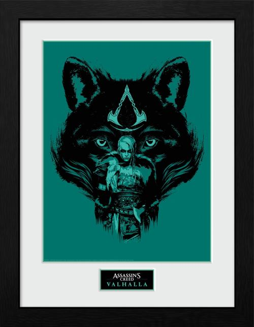 Assassins Creed Valhalla Picture - Wolf - 16 x 12