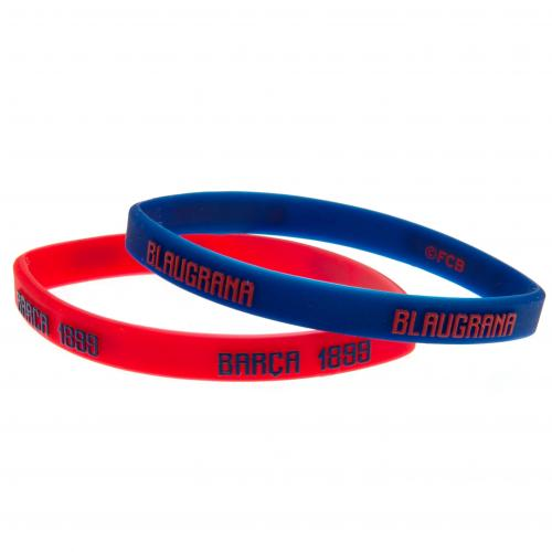 FC Barcelona Silicone Wristbands - Pack of 2