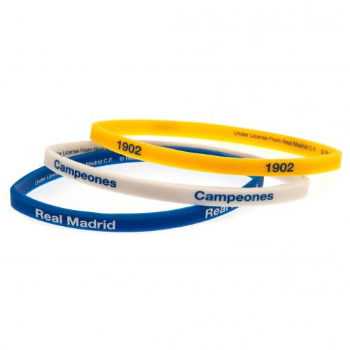 Real Madrid FC Silicone Wristbands - Pack of 3