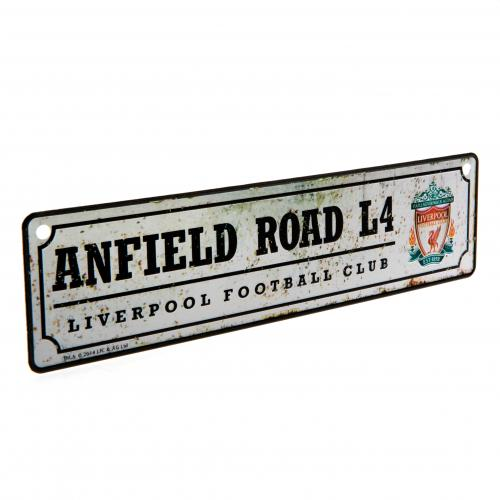 Liverpool FC Metal Window Sign - Retro