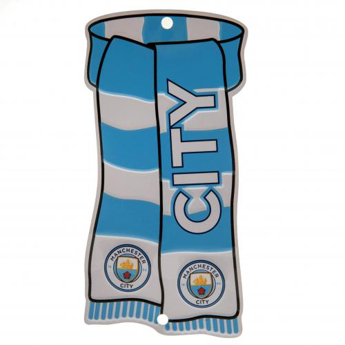 Manchester City FC Show Your Colours Metal Window Sign