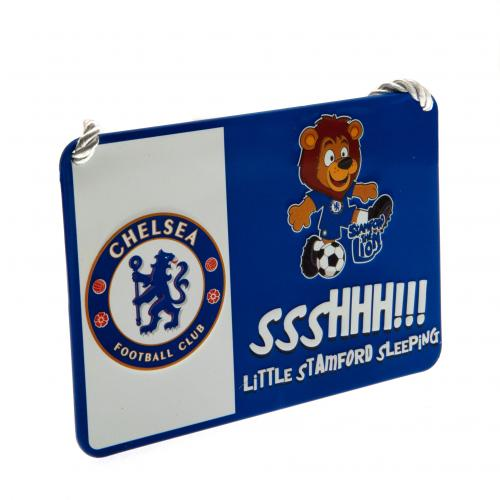 Chelsea FC Metal Bedroom Sign - Mascot