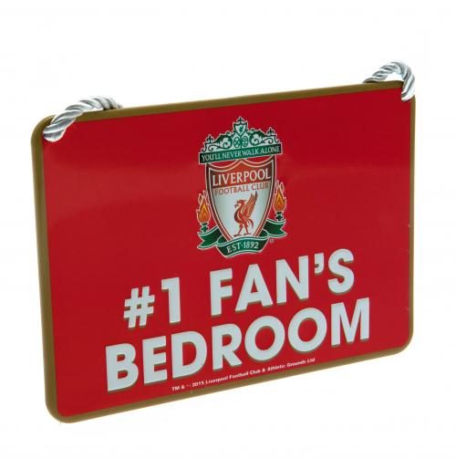 Liverpool FC Metal Bedroom Sign - No 1 Fan