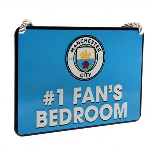 Manchester City FC Metal Bedroom Sign - No 1 Fan