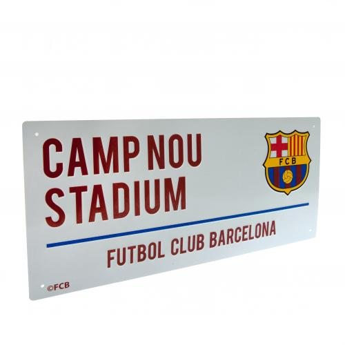FC Barcelona Metal Street Sign