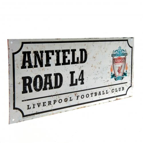 Liverpool FC Metal Street Sign - Retro