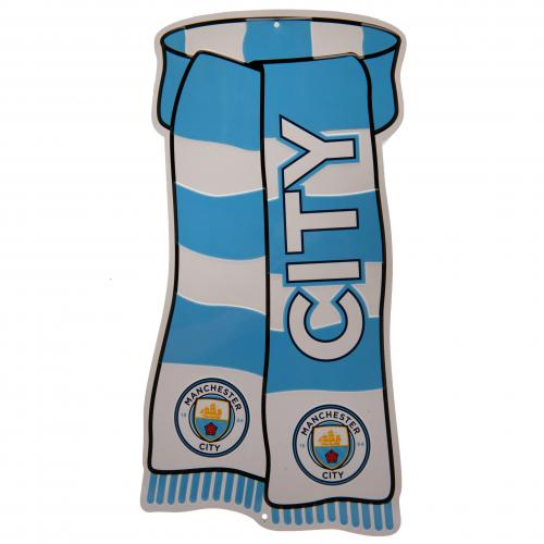 Manchester City FC Show Your Colours Metal Sign