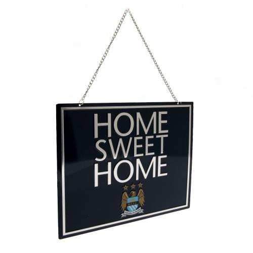 Manchester City FC Metal Home Sweet Home Sign
