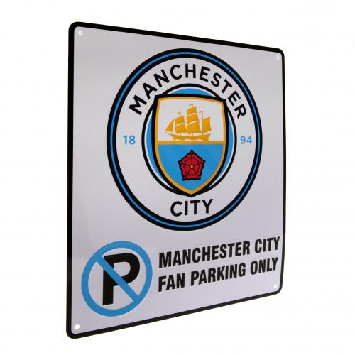 Manchester City FC Metal No Parking Sign