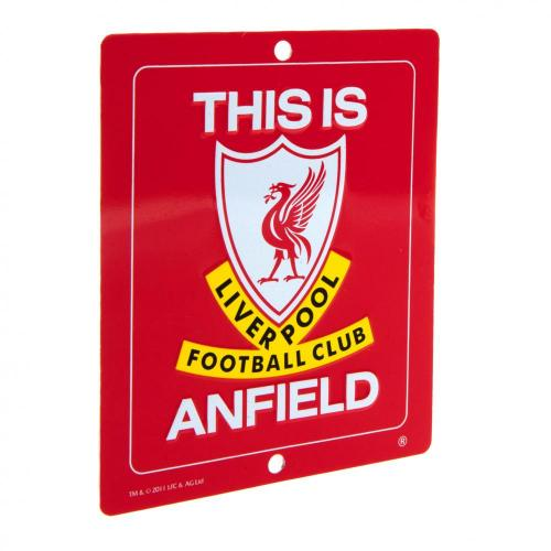 Liverpool FC Metal Window Sign - SQ