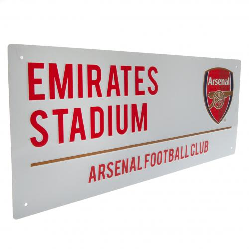 Arsenal FC Metal Street Sign