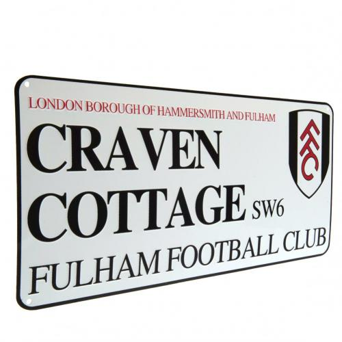 Fulham FC Metal Street Sign