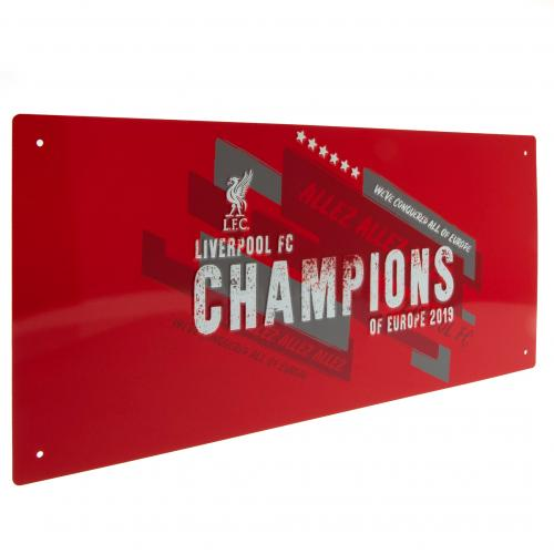 Liverpool FC Metal Street Sign - Champions of Europe