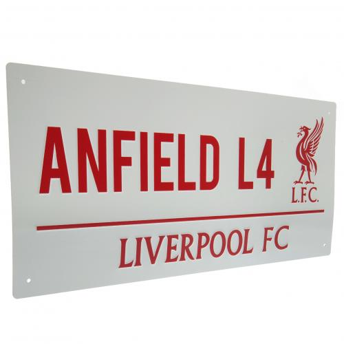 Liverpool FC Metal Street Sign - RL