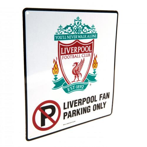 Liverpool FC No Parking Metal Sign