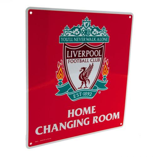 Liverpool FC Home Changing Room Metal Sign