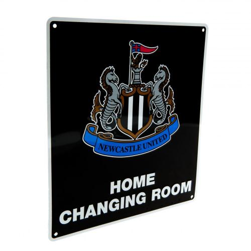 Newcastle United FC Home Changing Room Metal Sign