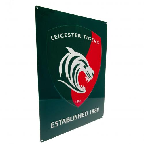 Leicester Tigers Large Metal Logo Sign