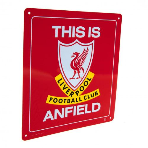 Liverpool FC This is Anfield Metal Sign