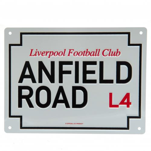 Liverpool FC Anfield Metal Road Sign