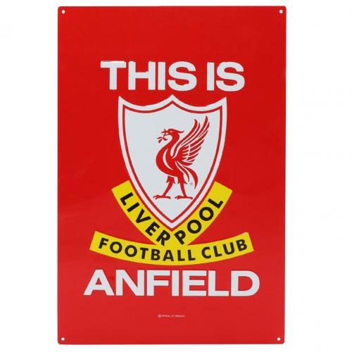 Liverpool FC TIA Large Metal Sign