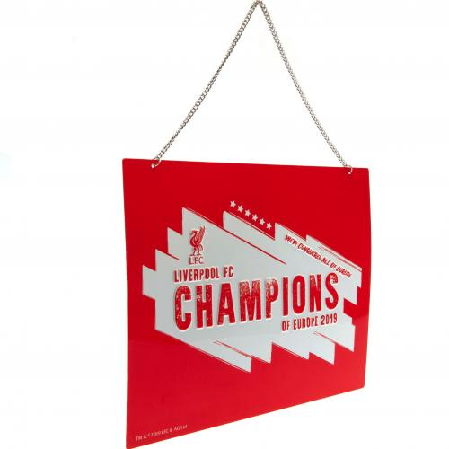 Liverpool FC Metal Sign - Champions of Europe
