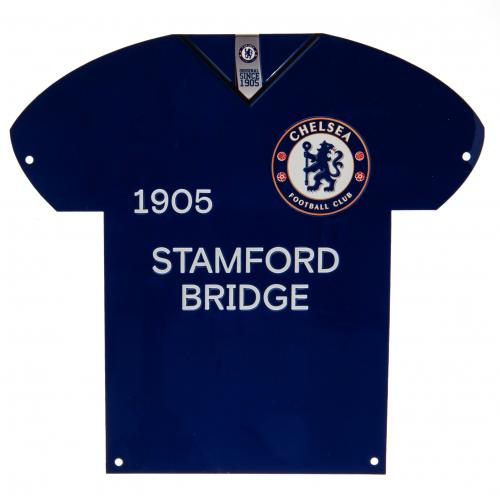 Chelsea FC Metal Shirt Sign