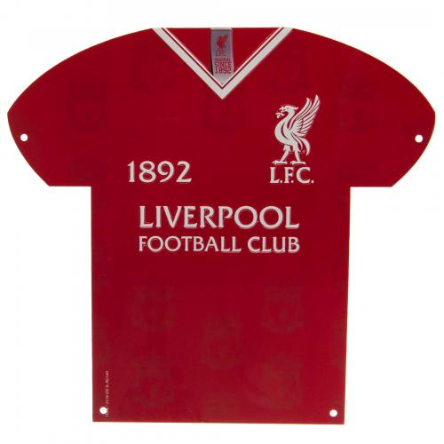 Liverpool FC Metal Shirt Sign - LB