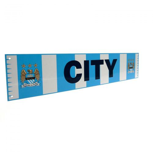 Manchester City FC Bar Scarf Metal Sign