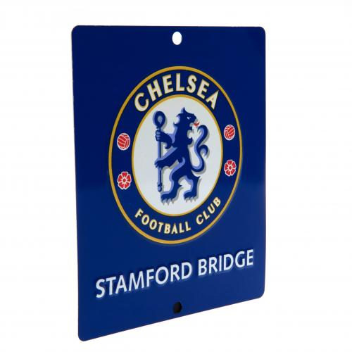Chelsea FC Metal Window Sign - SQ
