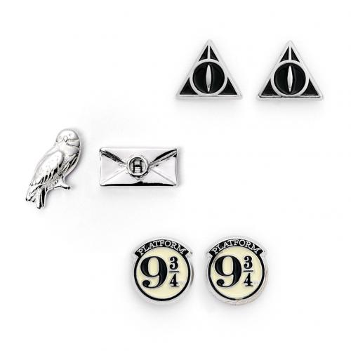 Harry Potter Silver Plated Earring Set - CL