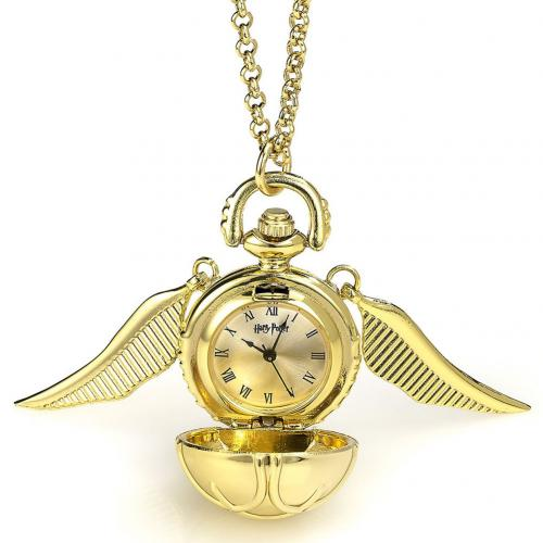 Harry Potter Gold Plated Watch Necklace - Golden Snitch