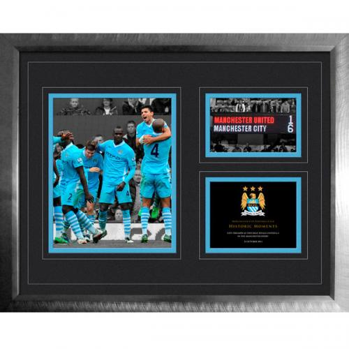 Manchester City FC Historic Moments Picture - 6-1 Derby - 16x20