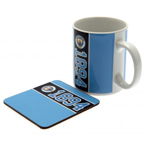 Manchester City FC Mug and Coaster Set
