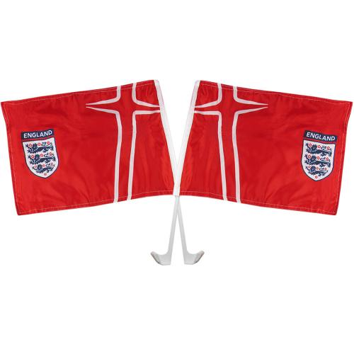 England FA Car Flag Twin Pack - Away
