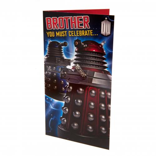 Doctor Who Birthday Card - Brother
