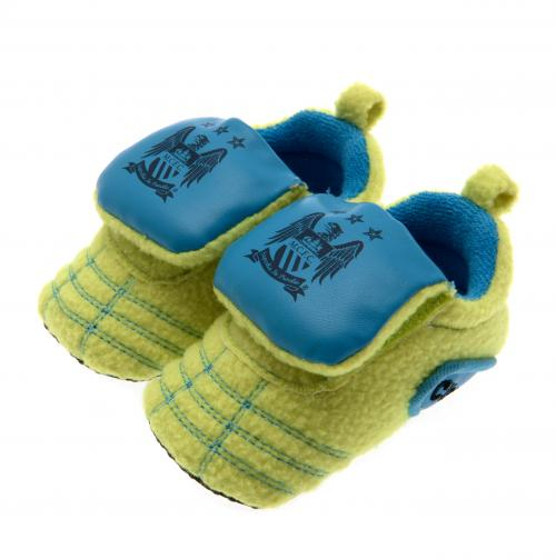 Manchester City FC Neon Boot Crib Shoe - 6/9 months