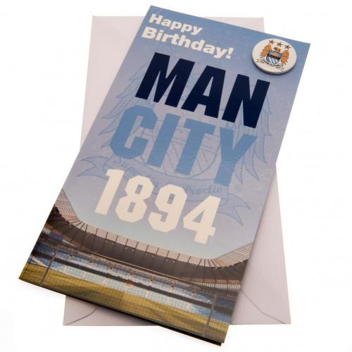 Manchester City FC Birthday Card - Established