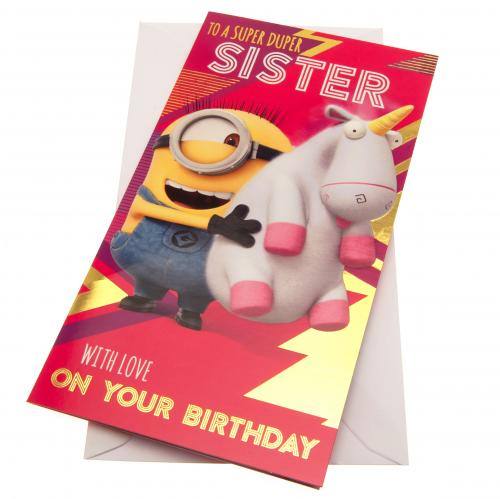 Despicable Me Minion Birthday Card - Sister