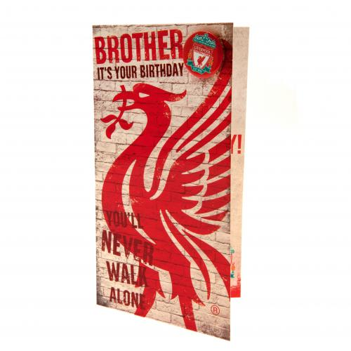 Liverpool FC Birthday Card - Brother