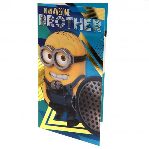Despicable Me 3 Minion Birthday Card - Brother