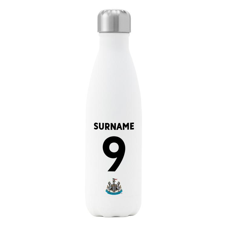 Newcastle United FC Personalised Insulated Drinks Bottle - Shirt