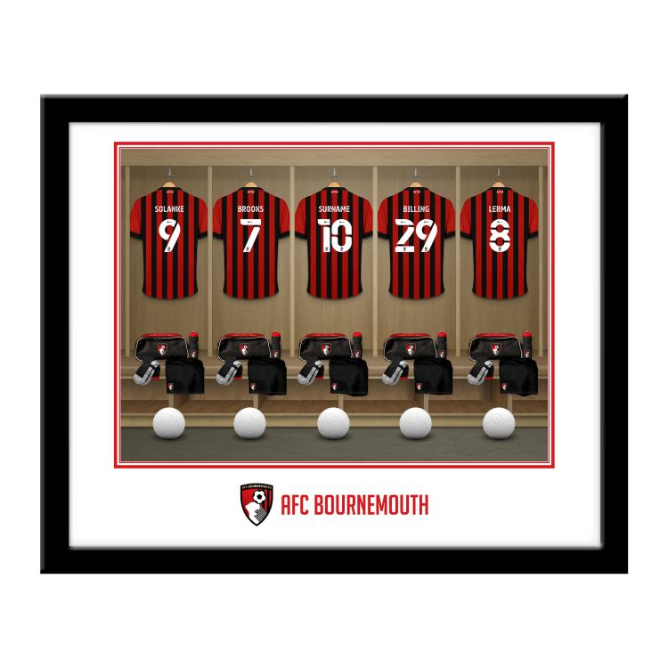 AFC Bournemouth Personalised Framed Dressing Room Print