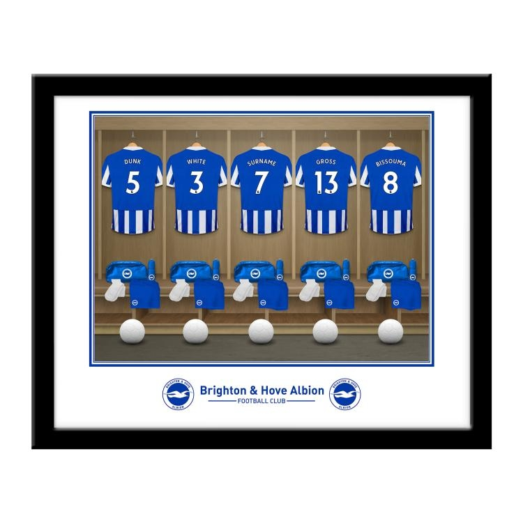 Brighton and Hove Albion FC Personalised Dressing Room Print